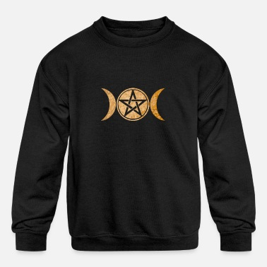 Wicca Wiccan Symbol Triple Moon Gift Idea - Kids' Crewneck Sweatshirt