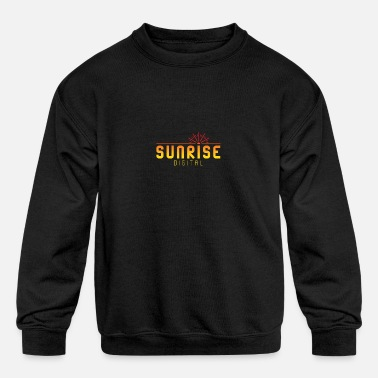 Sunrise Digital Logo - Kids' Crewneck Sweatshirt
