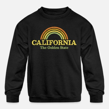 Golden State California - The Golden State - Kids' Crewneck Sweatshirt