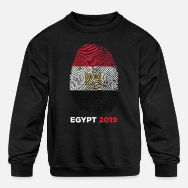 Ancient Egypt 2019 Egyptian Thumbmark Flag Cool Gift - Kids' Crewneck Sweatshirt