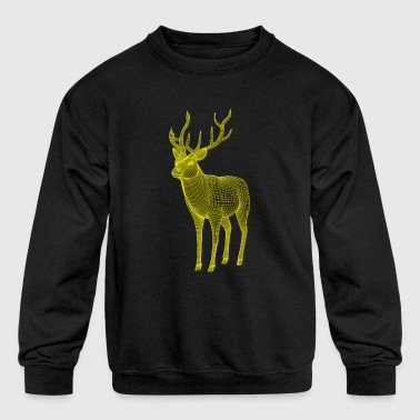 Deer polygon - Kid's Crewneck Sweatshirt