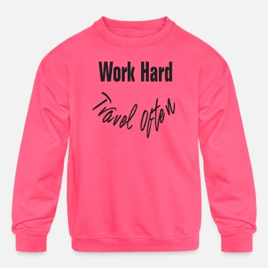 Creative Work Hard Travel Often Shirt Tshirt DAM Creative - Kids' Crewneck Sweatshirt