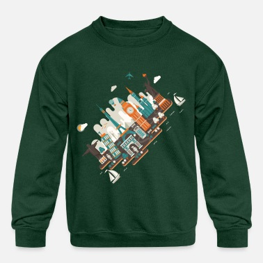 Inclined Tower A series of works everywhere I will - Kids' Crewneck Sweatshirt