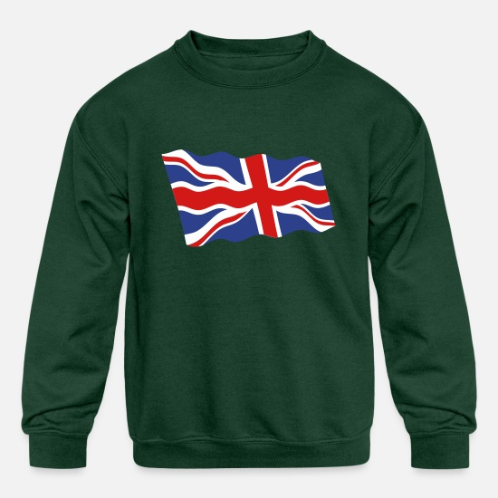 United Hoodies & Sweatshirts - United Kingdom - Kids' Crewneck Sweatshirt forest green