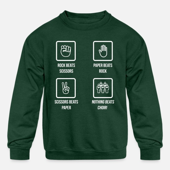 Choir Hoodies & Sweatshirts - Nothing Beats Choir Funny T-Shirt for Choir Singer - Kids' Crewneck Sweatshirt forest green