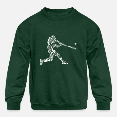 Baseball Players Baseball Player - Kids' Crewneck Sweatshirt