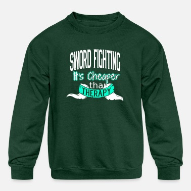 Sword Fight Sword Fighting - Kids' Crewneck Sweatshirt