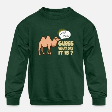Woot Woot Hump Day Guess What Day It is Funny Woot Woot Hump Day Cam - Kids' Crewneck Sweatshirt