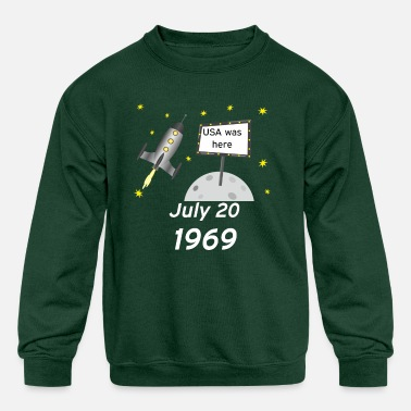 Apollo 11 50 years anniversary moon landing space - Kids' Crewneck Sweatshirt