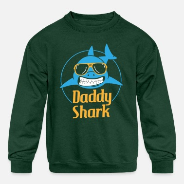 Daddy Shark (Baby Shark Song) - Father's Day Gifts - Kids' Crewneck Sweatshirt