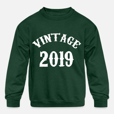 Birthday Vintage Shirt Born In 2019 Gift Tee - Kids' Crewneck Sweatshirt