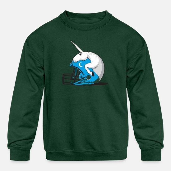 Movie Hoodies & Sweatshirts - Fantasy Football - Kids' Crewneck Sweatshirt forest green