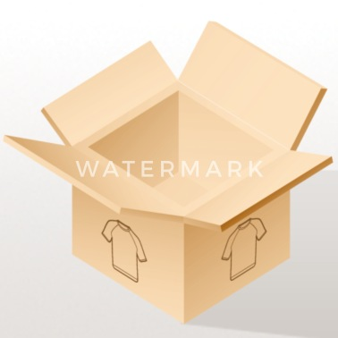Crook Graffiti Cartoon figure in white with raised eyebrow - iPhone X Case