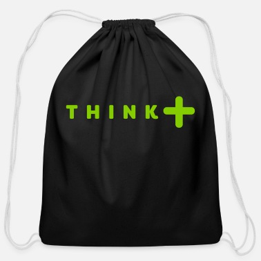 Think think positive - Cotton Drawstring Bag