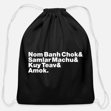 Amok Cambodian / Khmer Street Food - Cotton Drawstring Bag