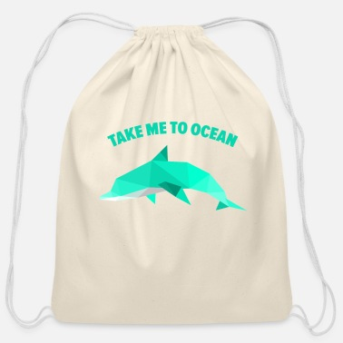 Take take me to ocean - Cotton Drawstring Bag
