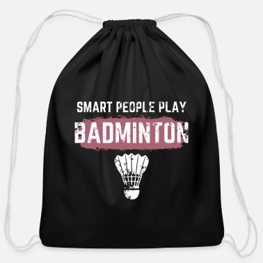 Badminton Funny A funny Badminton player. - Cotton Drawstring Bag