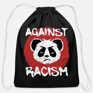 Against Against Racism - Cotton Drawstring Bag