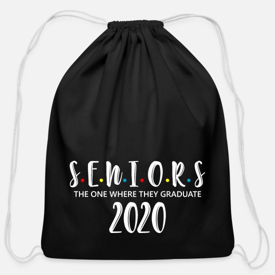2020 Bags & Backpacks - Seniors Class Of 2020 Shirt Graduation Gifts - Cotton Drawstring Bag black