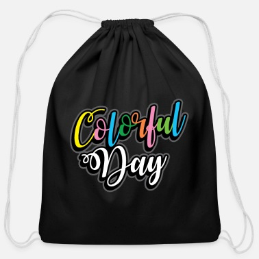 Color Colored Color Gift many colors - Cotton Drawstring Bag