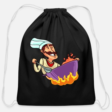 Gastro Cooking Cook Gastro Kitchen Food Chef Gift - Cotton Drawstring Bag
