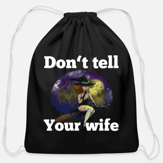 Sex Bags & Backpacks - Bad Witch Funny Halloween Costume Sex Addict Gift - Cotton Drawstring Bag black