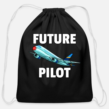 Sayings Airplane Fly Plane pilot flying flight airport 747 - Cotton Drawstring Bag