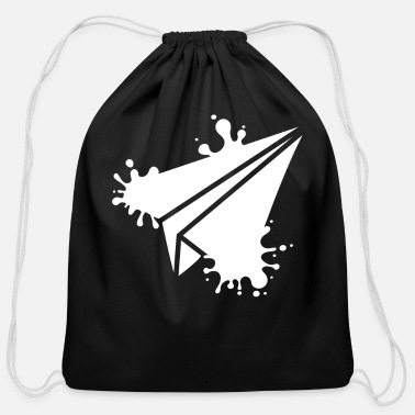 Paper Paper Plane - Cotton Drawstring Bag