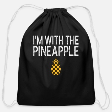 Pineapple I m With Pineapple Halloween T Shirt - Cotton Drawstring Bag