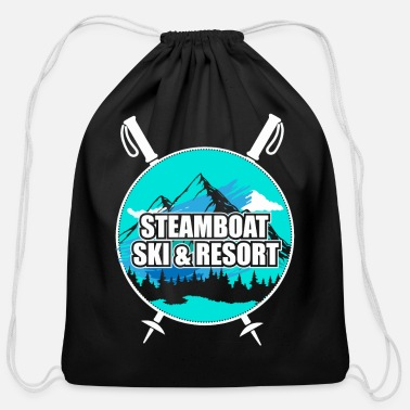 Ski Resort Steamboat Ski Resort Ski Resort Snow Wintersport - Cotton Drawstring Bag