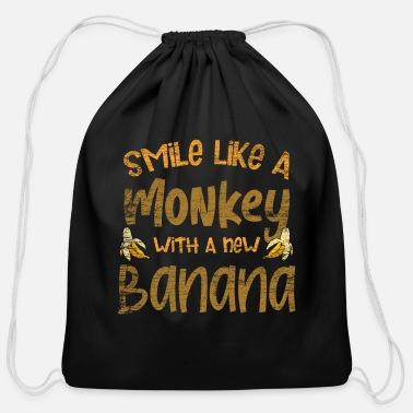 Chimpanzee Monkeys - Cotton Drawstring Bag