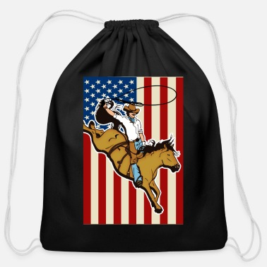 Western Riding Western Riding, Western - Cotton Drawstring Bag