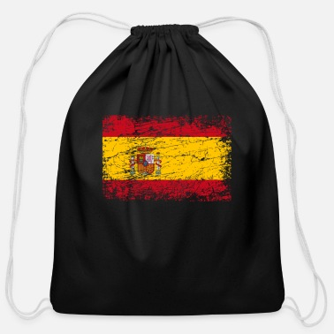 Spain Spain Spanish banner flag used look - Cotton Drawstring Bag
