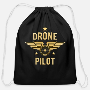 Pilot Drone pilot badge - Cotton Drawstring Bag