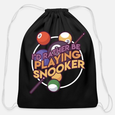 Stick Billard Billards Games Pool Gift Idea - Cotton Drawstring Bag