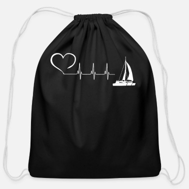 Boat TRIMARAN EKG HEARTBEAT - Cotton Drawstring Bag