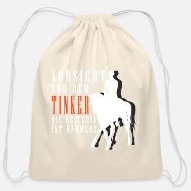 Mare Proud Tinker Horse Pony Rider Gift - Cotton Drawstring Bag