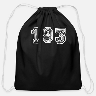 Number One Hundred Ninety Three - Cotton Drawstring Bag