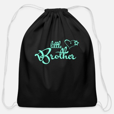 For Brother Little Brother - gift for brother - brother heart - Cotton Drawstring Bag