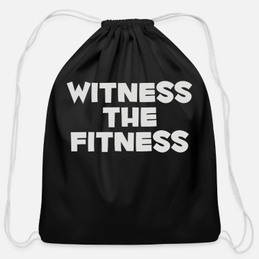 Wit Witness The Fitness - Cotton Drawstring Bag
