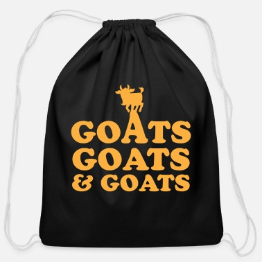Goat GOATS GOATS and GOATS - Cotton Drawstring Bag