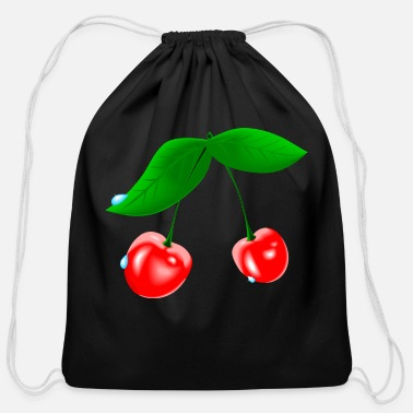 Wet Wet Cherry - Cotton Drawstring Bag