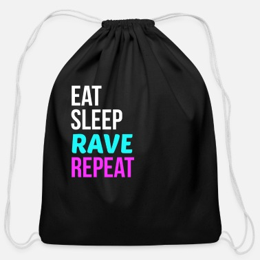 Hardstyle Rave Party Music Gift Idea for Clubs Techno Raves - Cotton Drawstring Bag