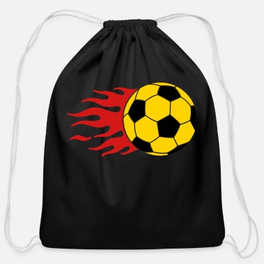 Ball burning ball - Cotton Drawstring Bag