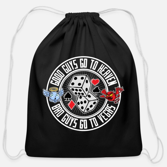 Vegas Bags & Backpacks - Bad Guys go to Las Vegas - Cotton Drawstring Bag black