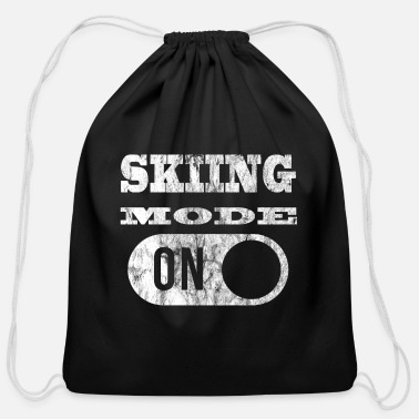 Mode SKIING MODE ON Ski Mode - Cotton Drawstring Bag