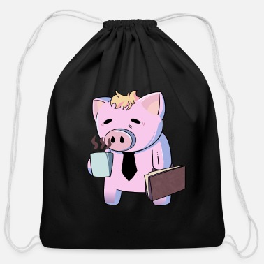Manic Tired Pig Manic Monday - Cotton Drawstring Bag