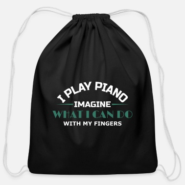 Piano Piano Keyboard Fingers - Cotton Drawstring Bag