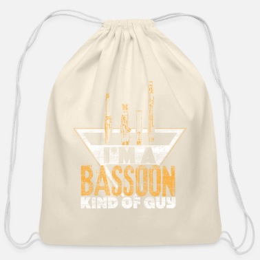 Double Bassoon Music instrument gift idea - Cotton Drawstring Bag