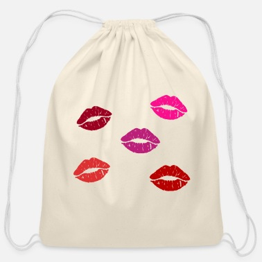 Slogan Many Lips - Cotton Drawstring Bag